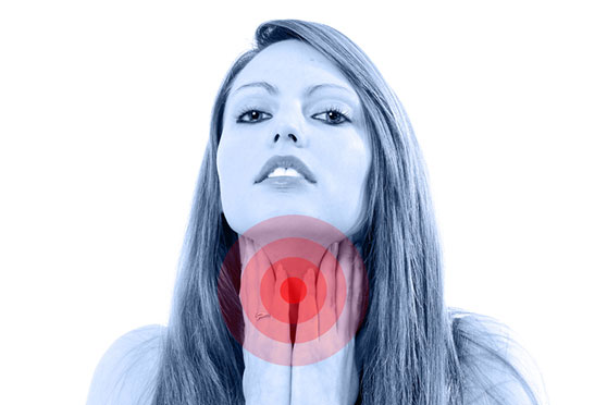 girl with thyroid problem